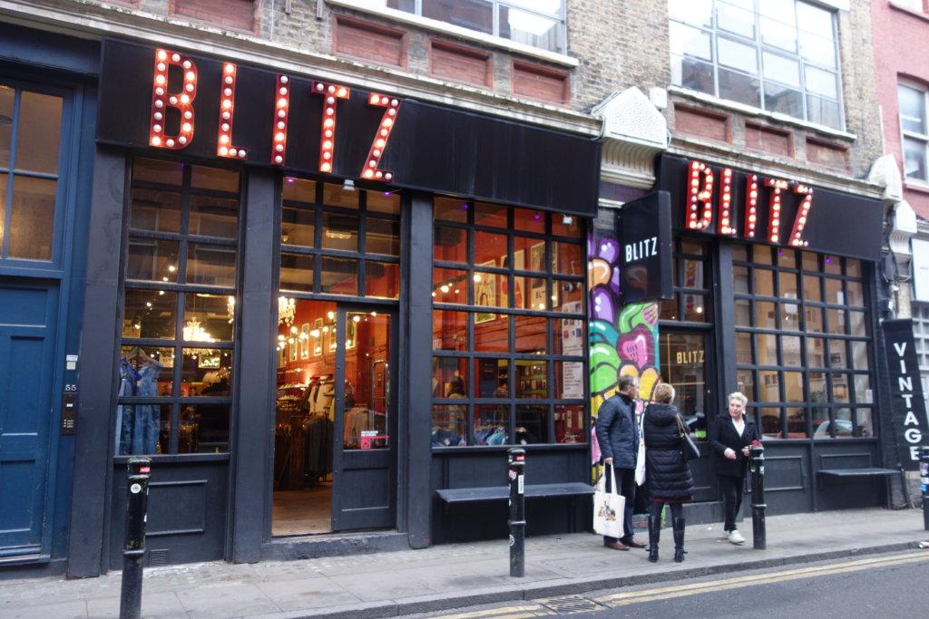 ショーディッチエリアの古着屋BLITZ