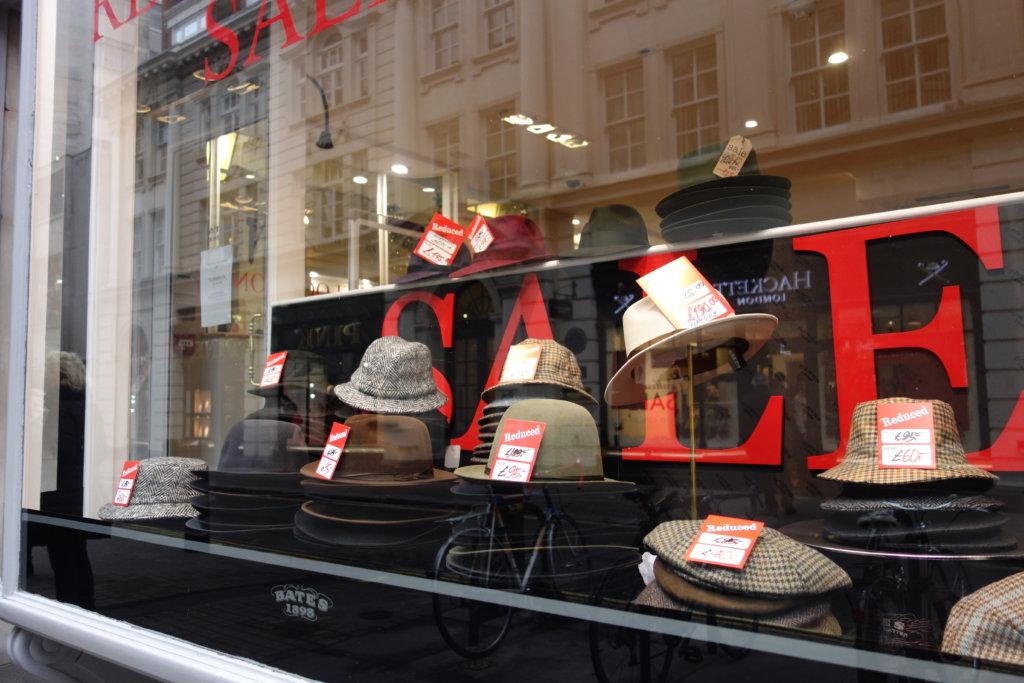 ロンドンの冬セール