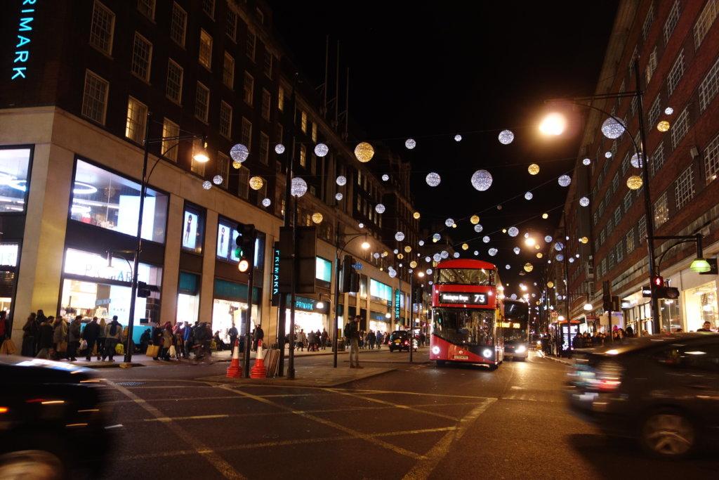 12月のロンドン